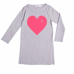 Joah Love Lynda Heart Tunic in Ash