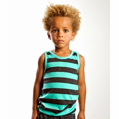 Joah Love Maceo Stripe Tank in Seafoam - <B>Size 10 left</B>