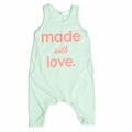 Joah Love Made with Love Baby Romper in Peppermint