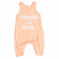 Joah Love Made with Love Baby Romper in Sunset