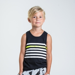 Joah Love Matt Striped Print Tank Top