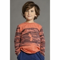 Joah Love Olie Camo Tee in Orange Red - <b>Last one size 2</b>