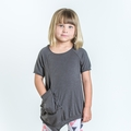Joah Love Vega Asymmetrical Tunic in Titanium