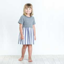 Joah Love Vertical Striped Sunday Dress