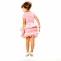 Joah Love Violet Bustle Dress in Candy - <B>Last one 12Y left</b>
