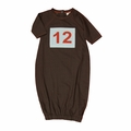 Kate Quinn Organic Number 12 Patch Infant Sacque in Charcoal
