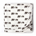 Kate Quinn Organic Unisex-baby Receiving Blanket in Three Bears