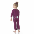 Kickee Pants Applique Coverall in Melody Singing Birds - <B>Size 0-3M</B>