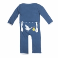 Kickee Pants Applique Coverall in Twilight Stork - <B>Last one size 18-24M</B>