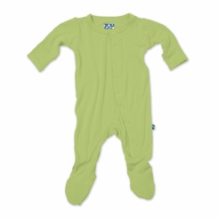 Kickee Pants Bamboo Footie in Meadow - <B>Last one 2T</B>