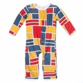 Kickee Pants Coverall in Bauhause - <B>Size 0-3M</B>