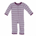 Kickee Pants Coverall in Girl Animal Stripe