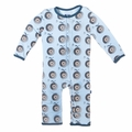 Kickee Pants Coverall in Pond Record Birds - <B>Sizes 0-3M & 3-6M</B>