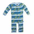 Kickee Pants Coverall in Sea Monster - <B>Last one size 0-3M</B>