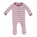 Kickee Pants Footie in Girl Animal Stripe - <B>Last one size 18-24M</B>