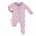Kickee Pants Footie in Lotus Baby Fairy - <B>Last one size 4T</B>