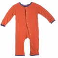 Kickee Pants Print Coverall in Frisbee - <B>Last one size 0-3M</B>