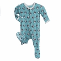 Kickee Pants Print Footie in Glacler Penguin - <B>Last one size 0-3M</B>