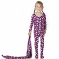 Kickee Pants Ruffle Footie in Melody Singing Birds - <B>Size 4T</B>