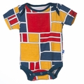 Kickee Pants Short Sleeve Onesie in Bauhause - <B>Last one size 18-24M</B>