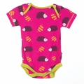 Kickee Pants Short Sleeve Onesie in Calypso Hedgehog - <B>Last one size 18-24M</B>