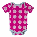 Kickee Pants Short Sleeve Onesie in Calypso Record Bird -  <B>Sold Out</B>