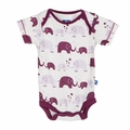 Kickee Pants Short Sleeve Onesie in Girl Bubble Elephant - <B>Sold out</B>