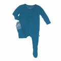 Kickee Pants Solid Footie in Oasis - <B>Size 4T</B>