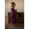 Kickee Pants Bamboo Coverall in Orchid -  <B>Last one size 0-3m</B>