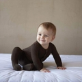 Kickee Pants Bamboo Footie in Bark - <B>Last one size 4T</B>