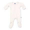 Kickee Pants Bamboo Footie in Natural - <B>Size 4T</B>