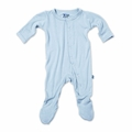 Kickee Pants Bamboo Footie in Pond - <B>Sizes 18-24M left</B>