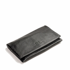 Kisim Timeless Women Enevelope Soft Leather Purse in Black