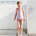 Lilo Tati Vintage Floral Ballet Onepiece - <B>Last one size 3</B>
