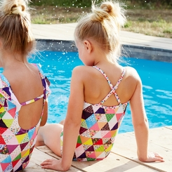 Mim Pi Fiesta Triangles Bathing Suit