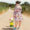 Mim Pi Fiesta Triangles Raincoat <B>Last One Size 2Y</B>
