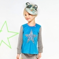 Mim Pi Flou Circus Star Turquoise Top - <B>Size 4 left</B>