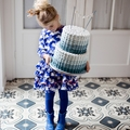 Mim Pi Galaxy Blue Swan Dress <B>Size 4Y left</B>