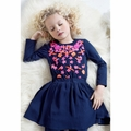 Mim Pi Navy Applique Dress