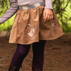 Misha Lulu Misha & Friends Brown Skirt - <B>size 12-18M left</B>