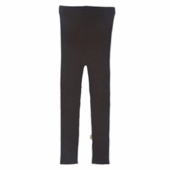 Nui Organics Merino Wool Rib Leggings in Cocoa - <B>Last One Size 3-6m</B>