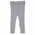 Nui Organics Merino Wool Rib Leggings in Silver - <B>Sold Out</B>