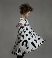 Nununu 360 Punctuation Dress in White - <B>Last One Size 2/3Y</b>