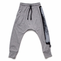 Nununu Brush Stroke Baggy Pants In Heather Grey