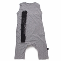 Nununu Brush Stroke Overall In Heather Grey