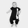 Nununu Brush Stroke Playsuit In Black