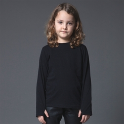 Nununu Circle Glove Shirt in Black - <B>Last One Size 8/9Y</b>