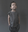 Nununu Dyed Gray Muscle Shirt - <B>Last one size 10Y/11Y</B>