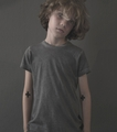 Nununu Dyed Gray T Shirt - <B>Last one sizes 4Y/5Y & 12Y/14Y</B>