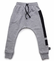 Nununu Exclamation Baggy Pants in Heather Grey - <B>Sold Out</B>